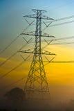 Torre elétrica de alta tensão Imagem de Stock