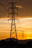 Torre elettrica Fotografie Stock