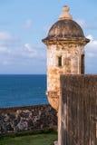 Torre em Castillo de San Cristobal, Porto Rico Fotos de Stock Royalty Free