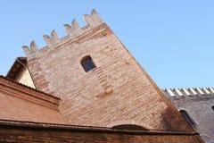 Torre em Corinaldo, Marche, Itália imagem de stock