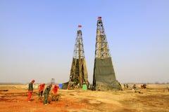 Torre em uma mina do ferro, China da perfuração Fotos de Stock Royalty Free