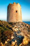 Torre en Cerdeña Imagenes de archivo