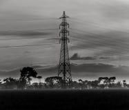 Torre en el campo de arroz Imagen de archivo
