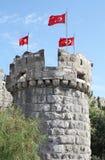 Torre en el castillo de Bodrum, Turquía Foto de archivo