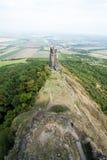 Torre en el castillo Hasenburg Fotografía de archivo