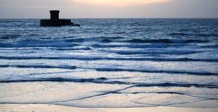 Torre en el mar Fotos de archivo libres de regalías
