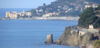 Torre en el mar Imagenes de archivo
