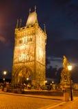 Torre en el puente de Charles Imágenes de archivo libres de regalías