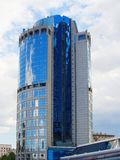 Torre 2000 en el tsentr delovoy mezhdunarodniy de Moskovskiy, o M fotografía de archivo