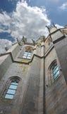 Torre en la abadía de Mont Saint Michel. Fotos de archivo