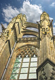 Torre en la abadía de Mont Saint Michel. Foto de archivo libre de regalías