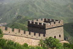 Torre en la Gran Muralla de China Fotos de archivo