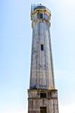 Torre en la isla de Alcartraz Imágenes de archivo libres de regalías