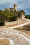 Torre en la playa (Ancona) Foto de archivo