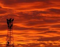 Torre en la salida del sol 1804 Fotografía de archivo