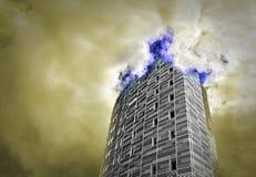 Torre en los cielos Imágenes de archivo libres de regalías