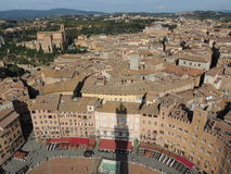 Torre en Piazza del Campo - Siena Fotos de archivo libres de regalías