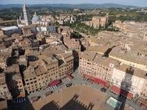 Torre en Piazza del Campo - Siena Imagen de archivo libre de regalías