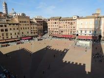 Torre en Piazza del Campo - Siena Foto de archivo libre de regalías