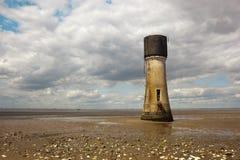 Torre en una playa Imagen de archivo libre de regalías