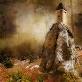 Torre en una roca ilustración del vector