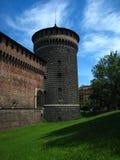 Torre Est. Castello Sforzesco. Milano Stock Image