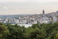Torre Estambul de Galata Foto de archivo libre de regalías