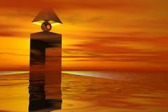 Torre estrangeira do survielance Imagens de Stock Royalty Free