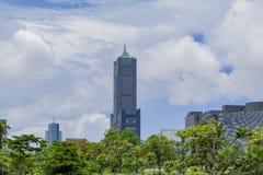 A torre famosa de 85 céus da cidade de Kaohsiung Foto de Stock Royalty Free