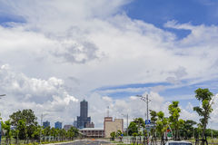 A torre famosa de 85 céus da cidade de Kaohsiung Fotos de Stock Royalty Free