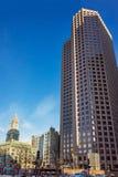 Torre financiera del distrito y de aduanas en Faneuil Hall Square Fotografía de archivo