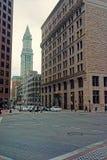 Torre financiera del distrito y de aduanas en State Street Fotografía de archivo