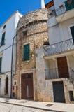 Torre fortificata. Conversano. La Puglia. L'Italia. Fotografie Stock