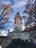 Torre fra gli alberi Immagini Stock Libere da Diritti