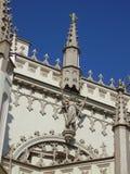 Torre gótica de la capilla Fotografía de archivo