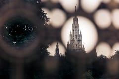 Torre gótico da construção da câmara municipal de Viena Fotografia de Stock Royalty Free