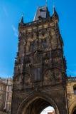 A torre gótico do pó na cidade velha Fotografia de Stock