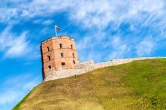 Torre Gedimino de Gediminas em Vilnius, Lituânia imagens de stock royalty free