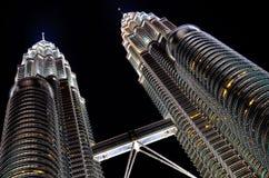 Torre gemela Foto de archivo libre de regalías