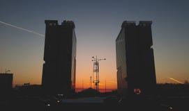 Torre gemela Bucarest Foto de archivo libre de regalías