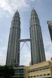 Torre gemella di Petronas (KLCC) in Malesia Fotografia Stock Libera da Diritti