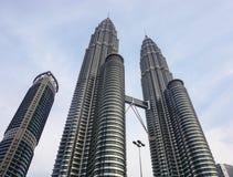 Torre gemella di Petronas in Kuala Lumpur, Malesia Fotografia Stock
