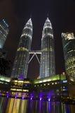 Torre gemella Petronas in Kuala Lumpur Malaysia fotografia stock libera da diritti