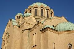 Torre genérica de la iglesia ortodoxa búlgara imagenes de archivo