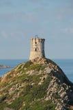 Torre genovese alle isole di Sanguinaires, in Corsica (Francia) fotografie stock libere da diritti