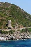Torre genovese in costa corsa Immagini Stock
