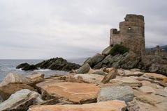 Torre genovese su capo Corse Fotografie Stock Libere da Diritti