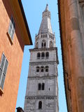 Torre Ghirlandina, Modena (Italia). View of the Ghirlandina Tower in Modena (Italy Stock Photography