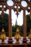 Torre gotica della costruzione del comune di Vienna Fotografia Stock Libera da Diritti
