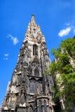Torre gotica di Stephansdom a Vienna Fotografia Stock Libera da Diritti